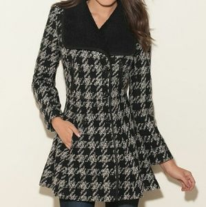 Guess Felicity wool houndstooth coat